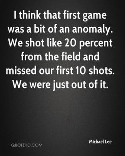I think that first game 
