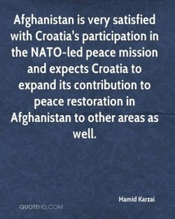 Afghanistan is very satisfied 