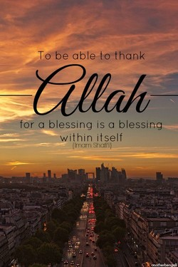 able to thank 