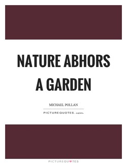 NATURE ABHORS 
