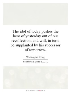The idol of today pushes the 