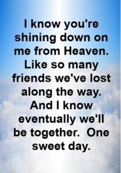I know you're 