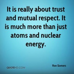 It is really about trust 