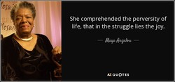 She comprehended the perversity of 