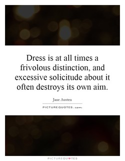 Dress is at all times a 