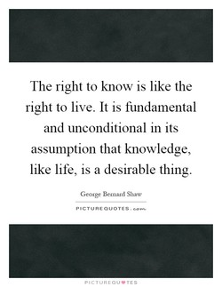 The right to know is like the 