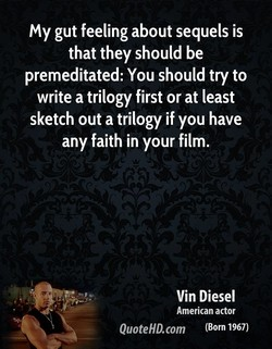 my gut feeling about sequels is 