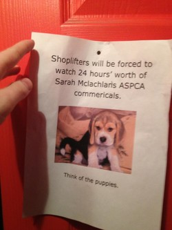 Shoplifters will be forced to 