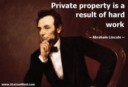 Private property is a 