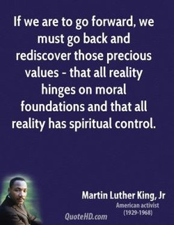 If we are to go forward, we 