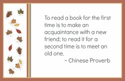 To read a book for the first 