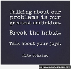 Talking about our 