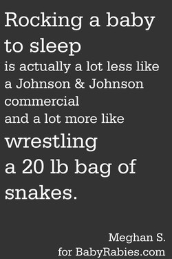Rocking a baby 