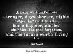 A baby make love 