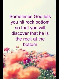 Sometimes God lets 