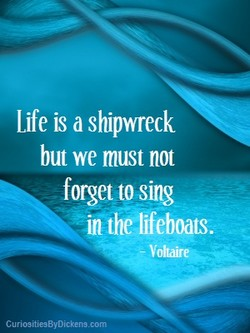 Life is shipwreck 