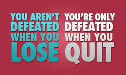YOU AREN'T YOU'RE ONLY 