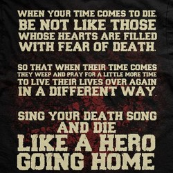 WHEN YOUR TIME COMES TO DIE. 