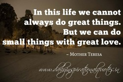 In this life we cannot 