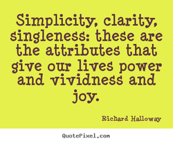 Simplicity, clarity, 