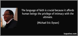 The language of faith is crucial because it affords 