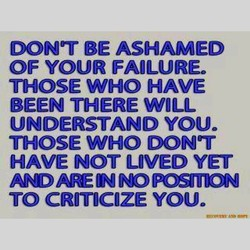 DON'T BE ASHAMED 