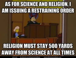 AS FOR SCIENCE AND RELIGION, I 