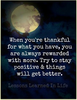 When you're thankful 
