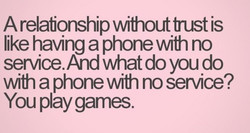 A relafionship wifroutfrust is 