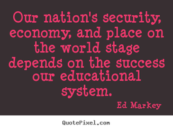 Our nation's security, 