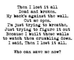 Then 1 lost it all 