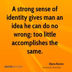 A strong sense of 