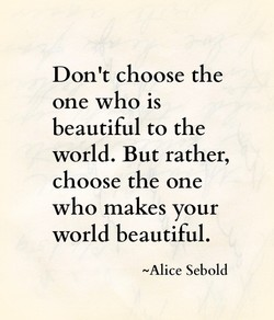 Don't choose the