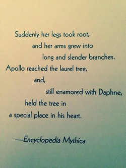 Suddenly her legs took root, 