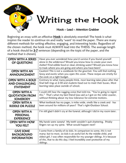Writing the Hook 