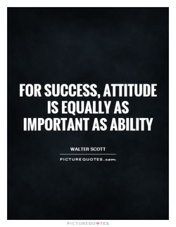 FOR SUCCESS, ATTITUDE 