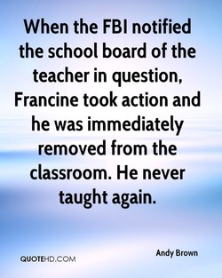 When the FBI notified 