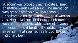 'Aladdin%was probably my favorite Disney 