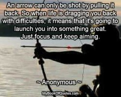 An arrow can only be shotby pulling it 