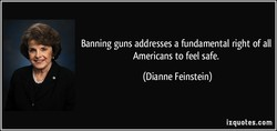 Banning guns addresses a fundamental right of all 
