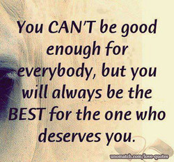 You CAN'T be good 