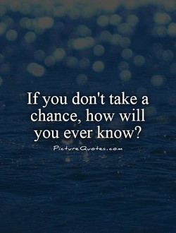 If you don't take a 