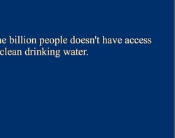 le billion people doesn't have access 