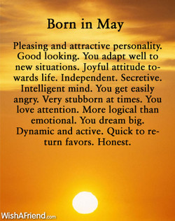 Born in May 