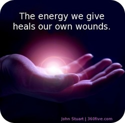 The energy we give 
