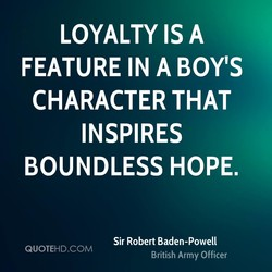 LOYALTY IS A 
