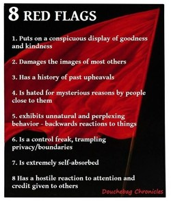 8 RED FLAGS 