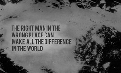 THE RIGHT MAN THE 