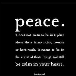 Peace. 