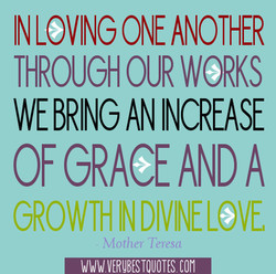 IN LOVING ONE ANOTHER 
